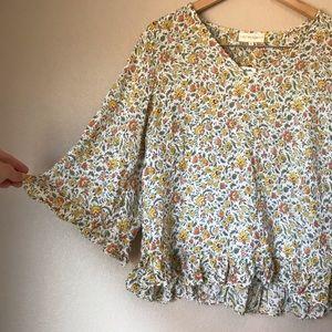 Cynthia Rowley Floral Boho Shirt